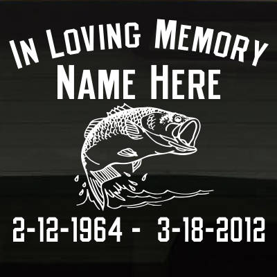 FishingBass_VTMCY In Loving Memory Decal Main Image