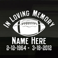 Football Traditional In Loving Memory Decal Image