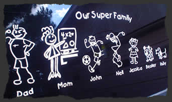 choose your custom family stick figure type 1