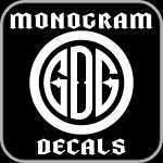 monogram personalized decals