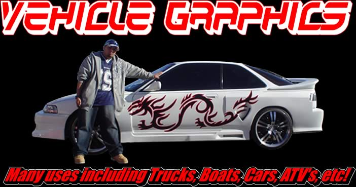 Vehicle Graphics Flames Tribals Splashes And More - Custom vinyl graphics for cars