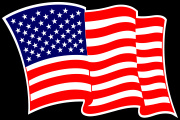American_USA_Wave Flag Decal Graphic