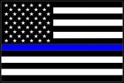 Blue Lives Matter Flag Decal Graphic
