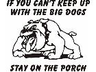Bulldog Stay On Porch Decal