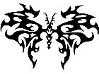 Butterfly Tribal 1 1 Decal