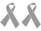 Cancer Cause Ribbon 2 Choose Color Decal