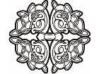 Celtic Ornaments 0 0 0 3w Decal