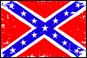 Customize this Confederate_Rebel_Rough Flag Decal