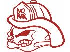 Fire Fighter Flame Guy Decal