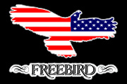 Freebird_American_REV Flag Decal Graphic