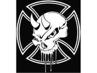 Skull Independence_ I N V Decal Proportional