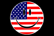 Smile_USA Flag Decal Graphic