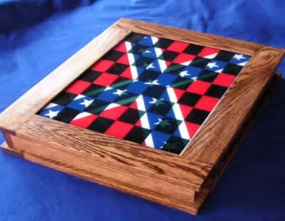 3cbo custom chessboard with Rebel Flag Decal Style