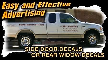 Advertising Decals Truck Van Semi Vinyl Lettering Promotional - Decals for trucks