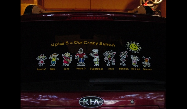 Cool full color family sticker