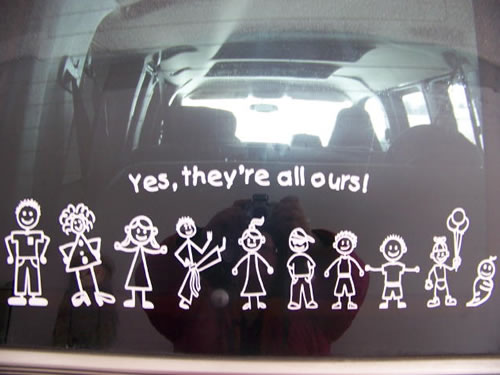 Here Is How That Family Sticker Will Look On Your Glass Or Tinted - Window stickers for cars family
