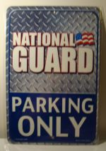 National Guared Parking Only car plate graphic