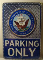 Department Of The Navy Parking Only  car plate graphic
