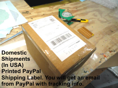 domestic shipping of decals