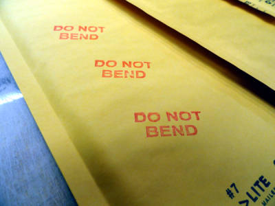 always a do not bend stamp